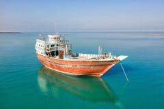 Αλιευτικό σκάφος Lenj παράδοσης στο νησί Qeshm στο νότιο Ιράν, που λαμβάνεται τον Ιανουάριο του 2019 παρμένος στο hdr στοκ φωτογραφία με δικαίωμα ελεύθερης χρήσης