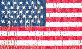 Αμερικανική σημαία σε μια μπλούζα ενός στρατιώτη αμερικάνικων στρατών Εκλεκτική εστίαση στοκ εικόνες