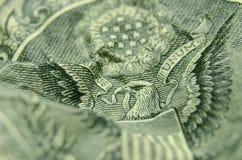 Αμερικανικός αετός στην αντιστροφή του λογαριασμού αμερικανικών δολαρίων στοκ φωτογραφίες με δικαίωμα ελεύθερης χρήσης