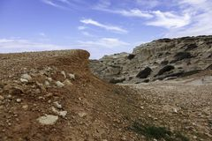 Αμμοχάλικο στις σπηλιές θάλασσας στοκ εικόνες