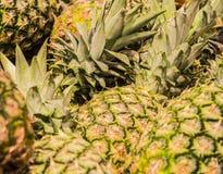ανασκόπηση ή σύσταση ανανάς καρπού τροπικός Καλοκαίρι και εξωτικός Βιταμίνες και χρήσιμα φρούτα Τρόφιμα αγορά στοκ φωτογραφία