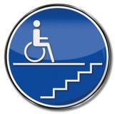 Αναπηρία για μια αναπηρική καρέκλα από μια σκάλα διανυσματική απεικόνιση