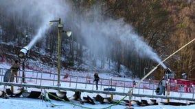 Ανεμιστήρες χιονιού σε Gatlinburg απόθεμα βίντεο