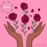 Ανθοδέσμη της εικόνας λουλουδιών ελεύθερη απεικόνιση δικαιώματος