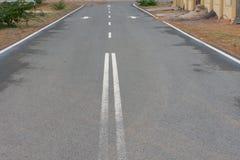 Ανοικτή κενή οδός στην έρημο εννοιολογικός στοκ εικόνα με δικαίωμα ελεύθερης χρήσης