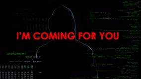 Ανώνυμα cyberattacks που απειλούν τη μυστικότητα και την εθνική ασφάλεια, τρομοκρατία στοκ εικόνες με δικαίωμα ελεύθερης χρήσης