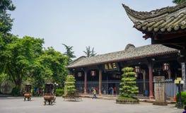 Αρχαίος ναός σε Chengdu, Κίνα στοκ εικόνα με δικαίωμα ελεύθερης χρήσης