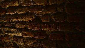 Αρχαίος τοίχος πετρών με τα μαλακά φω'τα απόθεμα βίντεο