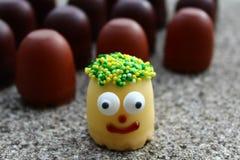 Αστείοι χαιρετισμοί με τα γλυκά στοκ φωτογραφίες με δικαίωμα ελεύθερης χρήσης