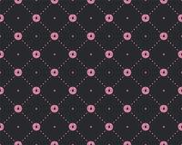 Αστείο σχέδιο πριγκηπισσών με τη γεωμετρική δομή και τα γλυκά donuts Doughnut σχέδιο πριγκηπισσών γλυκών, χαριτωμένη μόδα εφήβων απεικόνιση αποθεμάτων