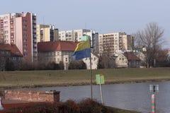 Αστικό σχεδιάγραμμα της παλαιάς πόλης σε Opole στοκ εικόνα