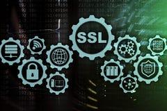 Ασφαλής έννοια στρώματος υποδοχών SSL Τα κρυπτογραφικά πρωτόκολλα παρέχουν τις εξασφαλισμένες επικοινωνίες Υπόβαθρο δωματίων κεντ στοκ εικόνες με δικαίωμα ελεύθερης χρήσης
