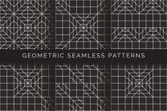 Αφηρημένα γεωμετρικά άνευ ραφής σχέδια διανυσματική απεικόνιση