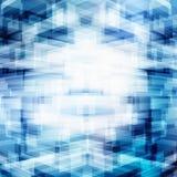 Αφηρημένη εικονική τρισδιάστατη φουτουριστική γεωμετρική επικάλυψη τεχνολογίας στο μπλε υπόβαθρο με το φωτισμό Ψηφιακή μεγάλη προ ελεύθερη απεικόνιση δικαιώματος