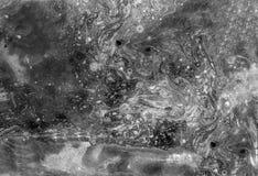 Αφηρημένη μαύρη άσπρη μαρμάρινη σύσταση, τέχνη acrylics στοκ εικόνες