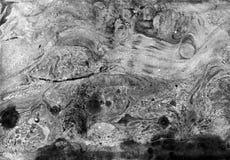 Αφηρημένη μαύρη άσπρη μαρμάρινη σύσταση, τέχνη acrylics στοκ φωτογραφίες με δικαίωμα ελεύθερης χρήσης