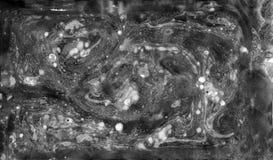 Αφηρημένη μαύρη άσπρη μαρμάρινη σύσταση, τέχνη acrylics στοκ εικόνα με δικαίωμα ελεύθερης χρήσης