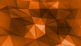 Αφηρημένος βρόχος υποβάθρου χρώματος τριγώνων γεωμετρικός πορτοκαλής ελεύθερη απεικόνιση δικαιώματος
