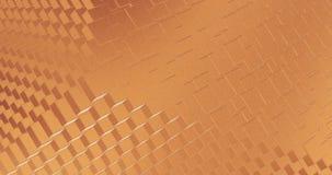 Αφηρημένος γεωμετρικός αυξήθηκε χρυσή backgroundfoil κεραμιδιών τρισδιάστατη απόδοση υποβάθρου βρόχων σύστασης άνευ ραφής ελεύθερη απεικόνιση δικαιώματος