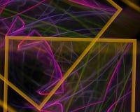 Αφηρημένος fractal μαγικός δυναμικός δίνει την επιστήμη δημιουργικότητας κινήσεων κυμάτων τη δονούμενη φαντασία διακοσμήσεων σκην διανυσματική απεικόνιση