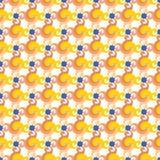 Αφηρημένο άνευ ραφής σχέδιο με τους στροβίλους ή τη συστροφή, τα φύλλα και τα μπλε σημεία απεικόνιση αποθεμάτων