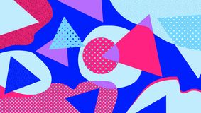 Αφηρημένο γεωμετρικό υπόβαθρο στα καθιερώνοντα τη μόδα χρώματα με τα στοιχεία Σύγχρονη και μοντέρνη αφηρημένη αφίσα σχεδίου, κάλυ διανυσματική απεικόνιση