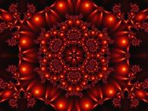 Αφηρημένο δημιουργικό υπόβαθρο με ένα κόκκινο mandala στην τρισδιάστατη απόδοση στοκ φωτογραφία με δικαίωμα ελεύθερης χρήσης