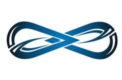 Αφηρημένο διανυσματικό σύμβολο απείρου διανυσματική απεικόνιση