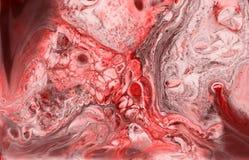 Αφηρημένο ρόδινο κοράλλι και άσπρη μαρμάρινη σύσταση, τέχνη acrylics στοκ φωτογραφία με δικαίωμα ελεύθερης χρήσης