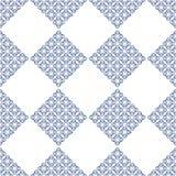 Αφηρημένο σύγχρονο fractal άσπρο και μπλε seameless σχέδιο απεικόνιση αποθεμάτων