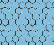 Αφηρημένο σχέδιο άνισα hexagons ρωγμών στοκ εικόνες