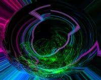 Αφηρημένο ψηφιακό fractal, όμορφη κίνηση σχεδίου, στρόβιλος, λαμπρός διανυσματική απεικόνιση