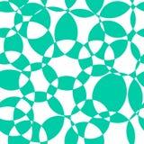 Αφηρημένο υποβάθρου άνευ ραφής διανυσματικό σχέδιο κύκλων κιρκιριών τεμνόμενο Σύγχρονοι πράσινοι μπλε επικαλύπτοντας κύκλοι σκηνι απεικόνιση αποθεμάτων