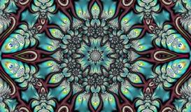 Αφηρημένο υπόβαθρο υπό μορφή fractal mandala στοκ φωτογραφία με δικαίωμα ελεύθερης χρήσης