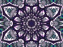 Αφηρημένο υπόβαθρο που δημιουργείται από ένα mandala που συλλέγεται από τις γεωμετρικές μορφές στοκ φωτογραφία με δικαίωμα ελεύθερης χρήσης
