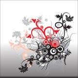 Αφηρημένο floral διάνυσμα διακοσμήσεων για άλλο σχέδιο διανυσματική απεικόνιση