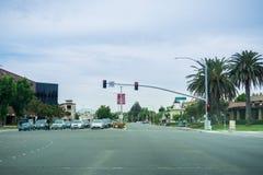 3 Αυγούστου 2017 Sunnyvale/CA/USA - που στη EL Camino πραγματικό μια νεφελώδη ημέρα στοκ εικόνες