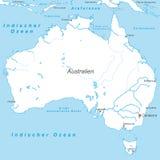 Αυστραλία - πολιτικός χάρτης της Αυστραλίας απεικόνιση αποθεμάτων