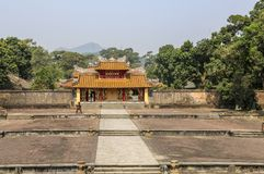 Απαγορευμένη πόλη, οι πύλες στο παλάτι σύνθετο, χρώμα, Βιετνάμ στοκ φωτογραφία