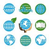 Απεικόνιση των αφηρημένων μπλε και πράσινων σημαδιών απεικόνιση αποθεμάτων