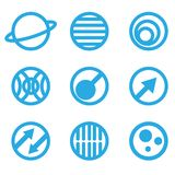Απεικόνιση των αφηρημένων μπλε σημαδιών ελεύθερη απεικόνιση δικαιώματος