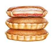 Απεικόνιση Watercolor της αγωνίας κέικ της αγάπης Παραδοσιακή ζύμη των Σαιντ Κιτς και Νέβις ελεύθερη απεικόνιση δικαιώματος