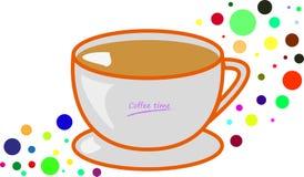 Απλά φλυτζάνι και colourfull σημεία coffe στο υπόβαθρο απεικόνιση αποθεμάτων