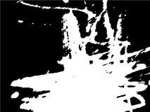 Απλό αφηρημένο γραπτό σχέδιο Εκφραστικό σχέδιο Μονοχρωματική σύσταση από τα κτυπήματα βουρτσών απεικόνιση αποθεμάτων