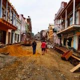 Αποκατάσταση οδών στο Tbilisi στοκ φωτογραφία