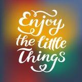 Απολαύστε τη μικρή τυπωμένη ύλη αποσπάσματος πραγμάτων στο διάνυσμα Κίνητρο αποσπασμάτων εγγραφής για τη ζωή και ευτυχία, μοναδικ ελεύθερη απεικόνιση δικαιώματος