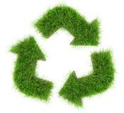 Βέλη ανακύκλωσης χλόης στοκ εικόνες