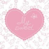 βαλεντίνος μορφής αγάπης καρδιών καρτών ελεύθερη απεικόνιση δικαιώματος