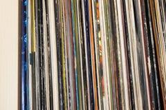 Βινυλίου συλλογή μουσικής στοκ φωτογραφία
