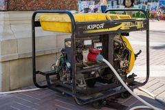 Βοηθητική κινητή γεννήτρια diesel για τη ηλεκτρική δύναμη έκτακτης ανάγκης στοκ εικόνες